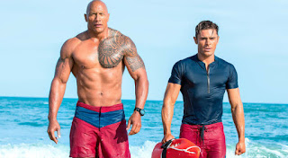 Photo of The Rock Dwayne Johnson and Zac Efron in Baywatch