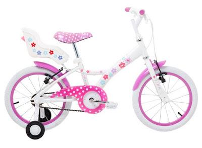 Bicicleta aro 16 em aço My Bike branca com porta boneca da Tito Bikes