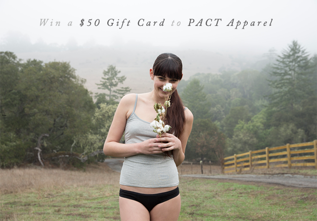 GIVEAWAY: Win a $50 Gift Card to PACT Apparel from Bubby & Bean