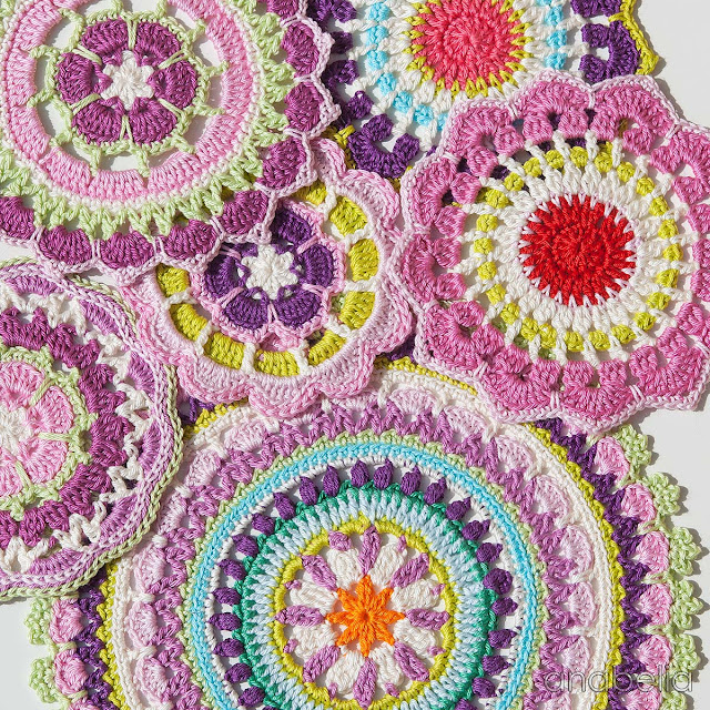 Crochet mandalas by Anabelia Craft Design