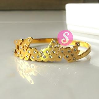 gelang nama lapis emas permata - andini