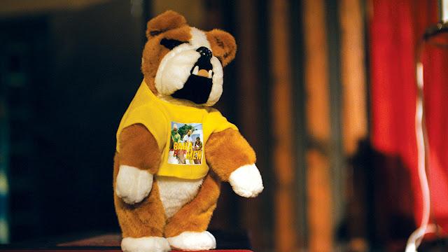a stuffed dog