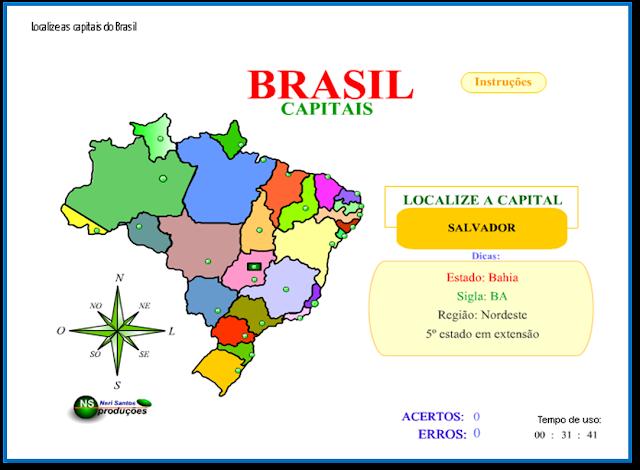 brasil estados e capitais eu e vc aprendendo muito