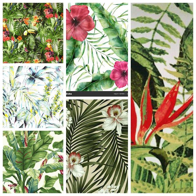 Decoração para um ano novo com tema tropical