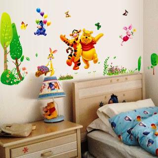Contoh Desain Kamar Anak Tema Winnie the Pooh 2000
