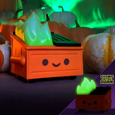 Entertainment Earth Exclusive Dumpster Fire Magical Pumpkin Trash Edition Vinyl Figure by 100% Soft