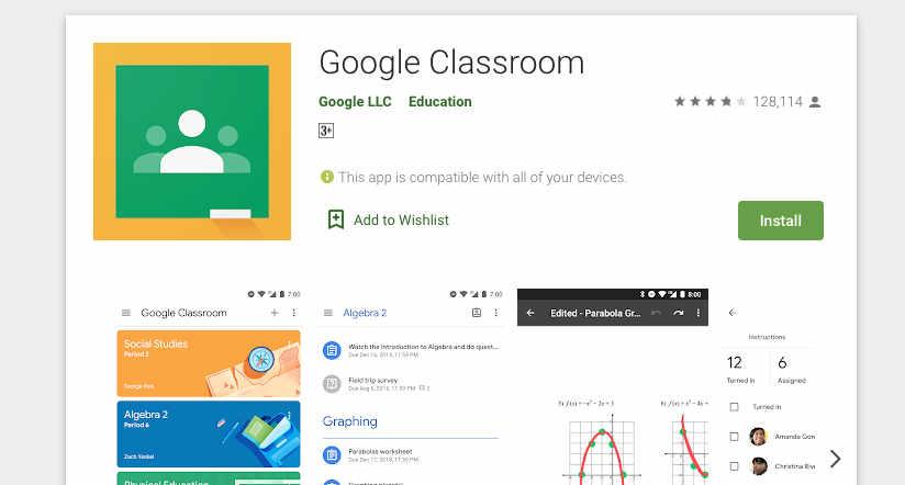3. Google Classroom