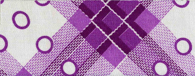 1900 printed cloth in purple secession