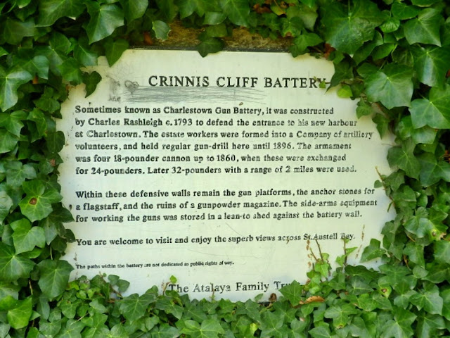 The Crinnis Cliff Battery, between Duporth and Charlestown, Cornwall