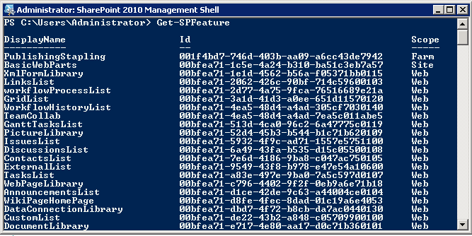 SharePoint Features Usage Report using PowerShell