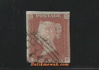 Perangko Kuno penny Inggris 1841
