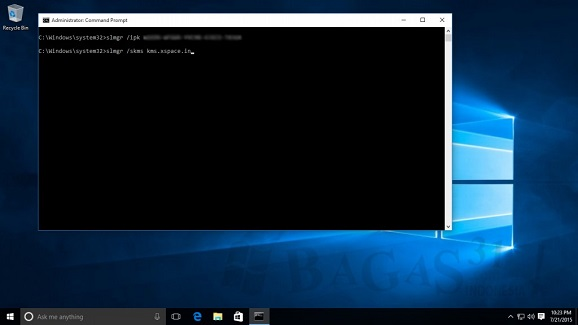 Cara Aktivasi OS WINDOWS 10 agar menjadi full version, Tampa KMSlite