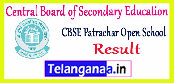CBSE Central Board of Secondary Education Patrachar Vidyalaya Open Exam Result 2018