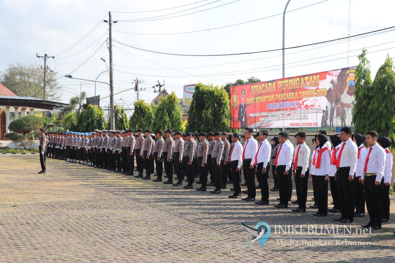 Polres Kebumen Gelar Upacara Hari Kesaktian Pancasila