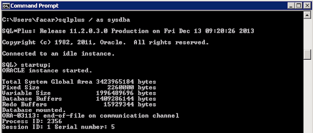ORA-03113: end-of-file on communication channel
