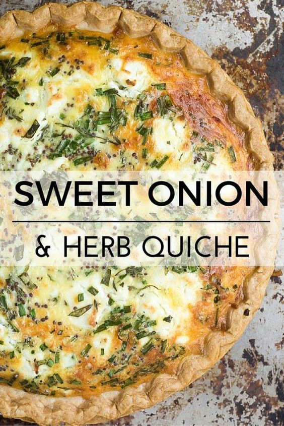 SWEET ONION AND HERB QUICHE