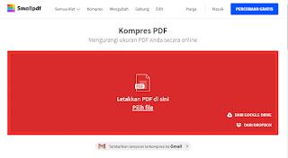 cara mengecilkan ukuran file pdf online