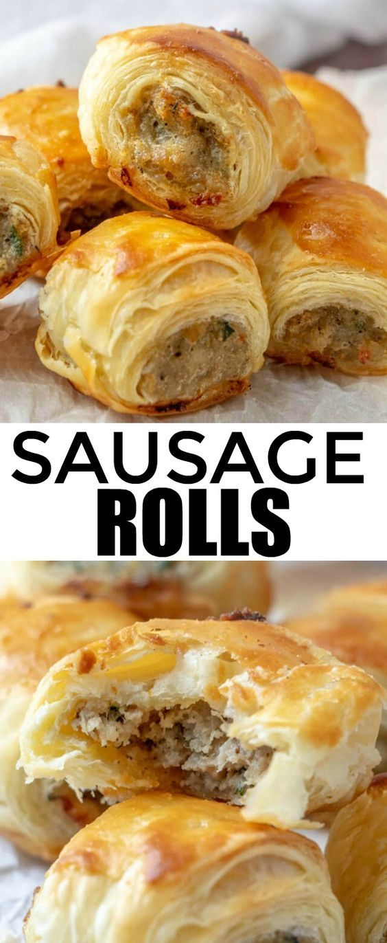 Sausage Rolls #appetizer #american #puff #pastry #sausage #rolls
