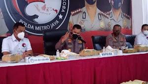 Polda Metro Jaya Bongkar Ganja Seberat 1,370 Ton, 12 Orang Jadi Tersangka