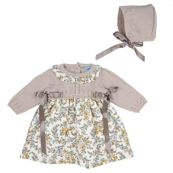 58514097b PrincipesyPrincesas.es  Vestidos de bebé con el cuerpo de punto