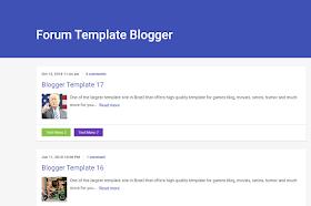 [Themeidn] Forum Pro Blogger Template