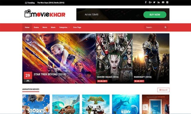 Moviekhor Blogger Template Free Download || Movies blogger Templetes