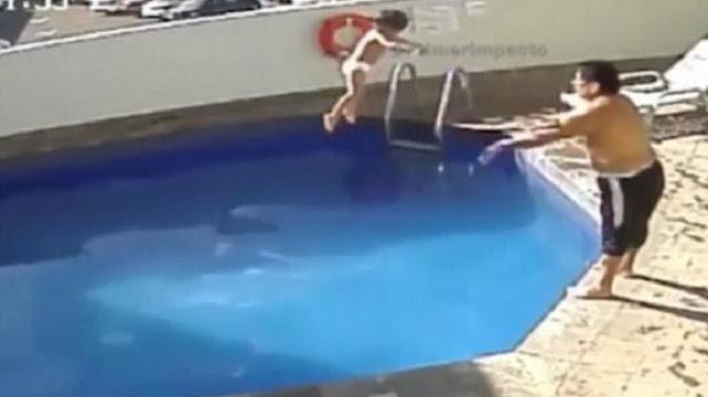 Kejam! Pria Ini Lempar Putrinya Yang Tak Bisa Berenang ke Kolam Hingga Tewas