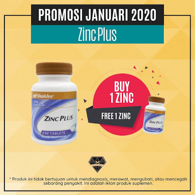 Promosi Shaklee Januari 2020 - Zinc Plus