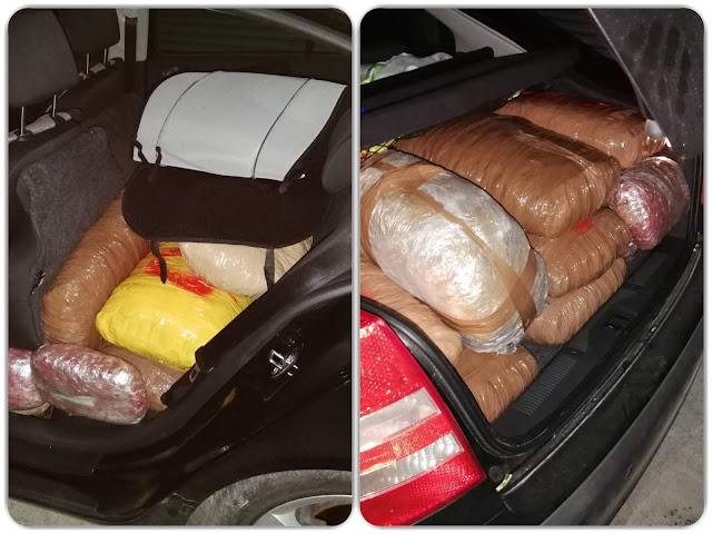 ΗΓΟΥΜΕΝΙΤΣΑ-Εντοπίστηκε κλεμμένο  αυτοκίνητο στη Νέα Σελεύκεια,φορτωμένο με 144 κιλά χασίς!