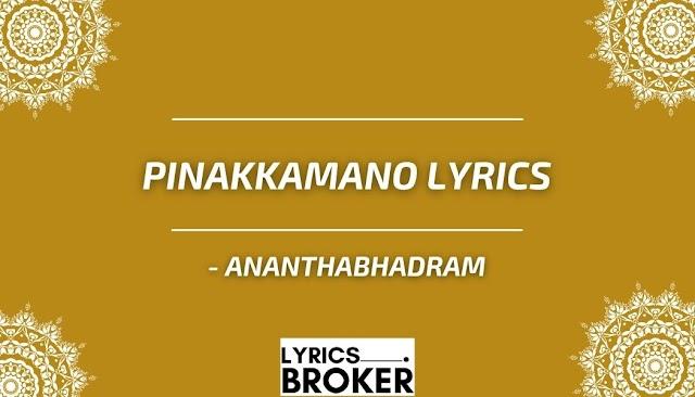 Pinakkamano Lyrics - Ananthabhadram - Malayalam