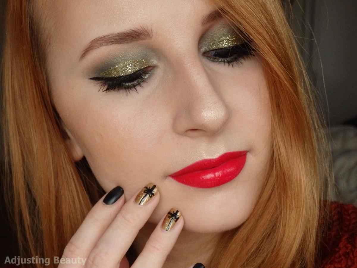 Red Christmas Makeup