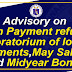 Updated Advisory on Loan Payment refund for April payroll and Moratorium of loan payments