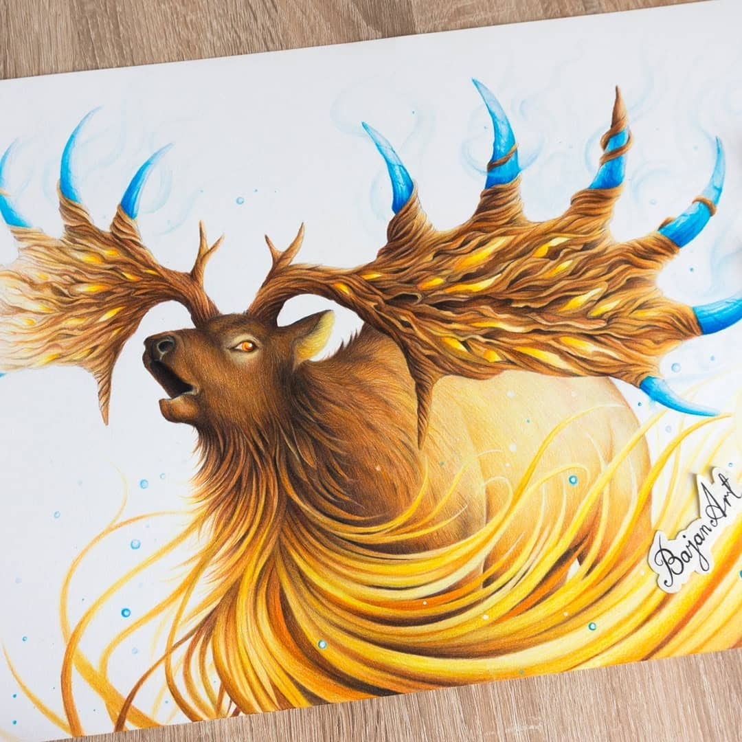 12-Stag-Łukasz-Andrzejczak-Fantasy-Art-and-Animals-www-designstack-co
