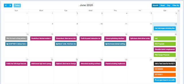 PHP CRM Software - utilities - calendar