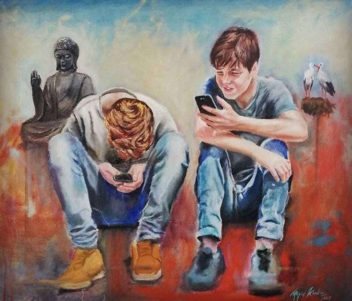 Тунисский художник-самоучка. Megid Khedhiry