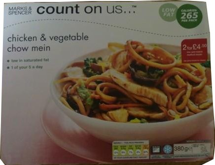 Diets and Calories: Chicken & Vegetable Chow Mein, 'Count ...