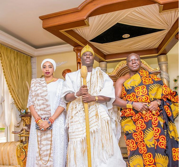 The Ooni of Ife Oba Adeyeye Enitan  Ogunwusi Ojaja II and his wife ,Olori Wuraola visit Otumfuo  Nana Osei Tutu II,  ruler of Ashanti Kingdom in Ghana