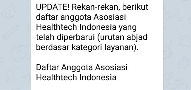 Daftar Anggota Asosiasi Healthtech Indonesia