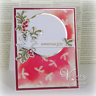 Handmade card by Lee Ann Barrett featuring Verve Stamps.