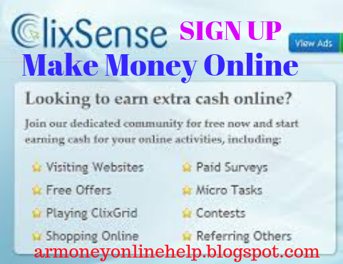 Make Money Online with ClixSense Best PTC Website, ClixSense review, ClixSense view ads, how to join ClixSense, ClixSense Surveys, and ClixSense Task.