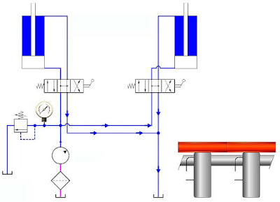Open center hydraulic directional control valve