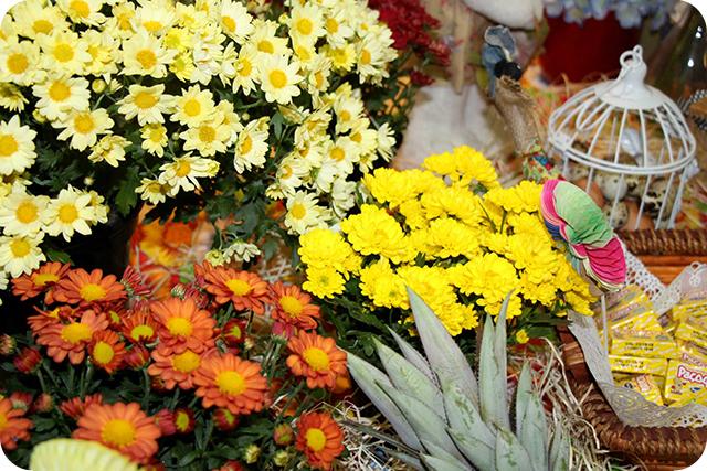 Decoração de Festa Caipira - Junina : Flores