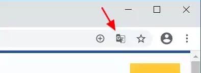 زر الترجمة في Chrome