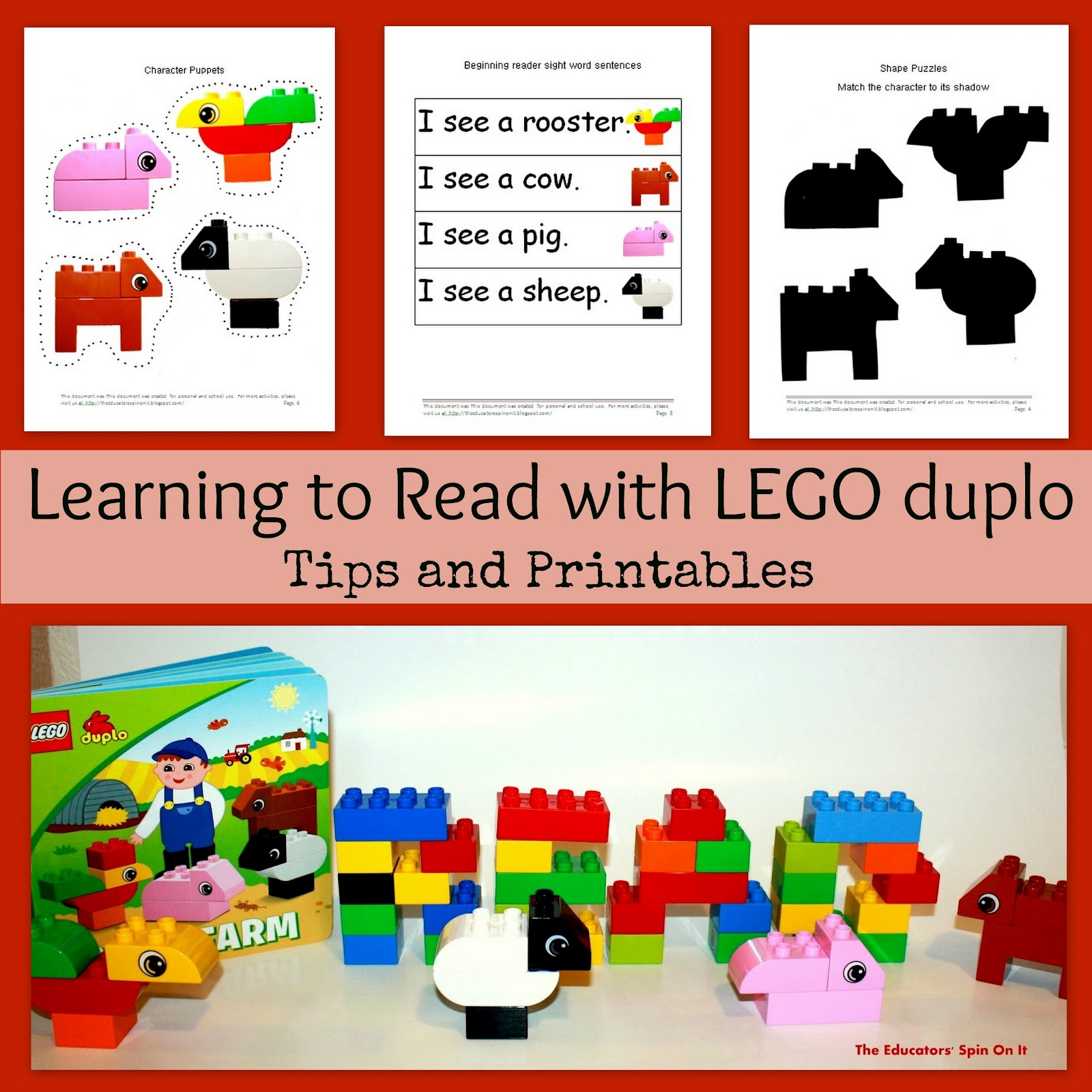 The Educators Spin On It Preschool Reading Activities Inspired By Lego Duplo