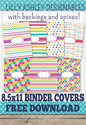 free binder cover printables lilly ashley designables