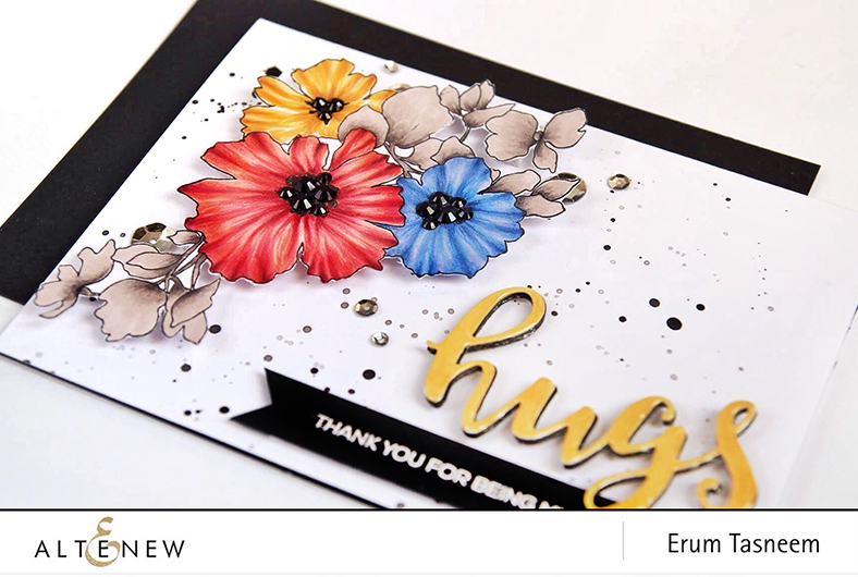 Altenew Charmed Stamp Set, coloured with Artist Markers Set B and C   Erum Tasneem   @pr0digy0