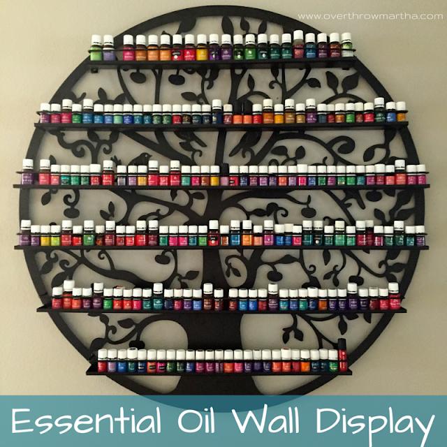 Storage Ideas For Essential Oils: Essential Oil Wall Display & Storage
