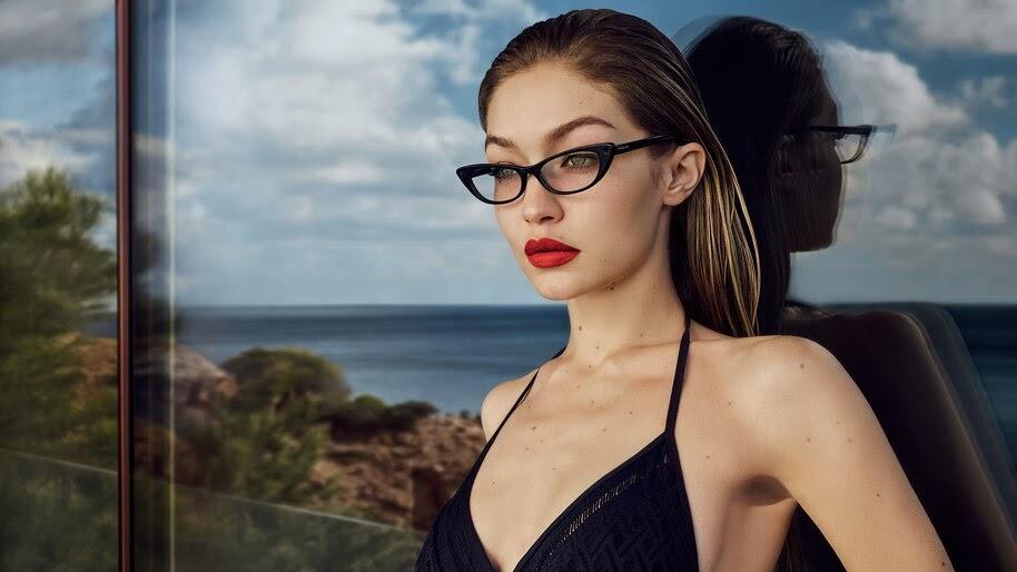 Gigi Hadid, Glasses, Beautiful, Model, 4K, #6.346
