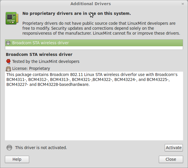Fedora drivers Wireless