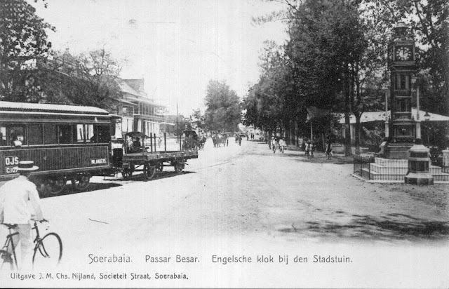 Pasar Besar View from Train Station, Soerabaja c1909